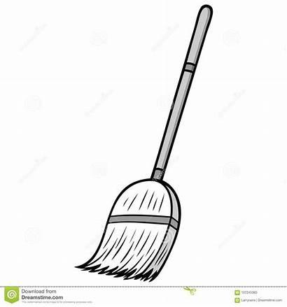 Broom Cartoon Cleaning Illustration Vector