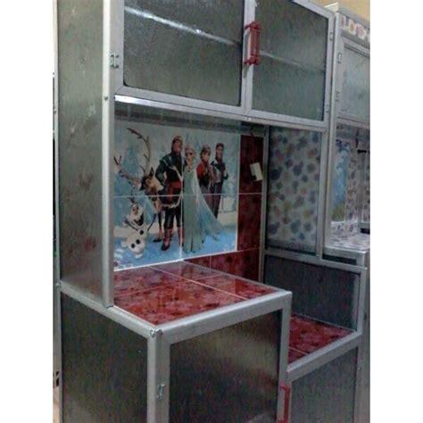 Rak Piring Aluminium Magic Com 2 pintu warna merah