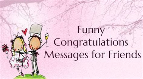 funny congratulations messages  friends wedding