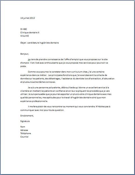 lettre de motivation hygi 233 niste dentaire lettre de motivation