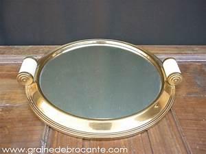 Plateau Miroir Rond : plateau rond avec son miroir des ann es 40 r ve de brocante ~ Teatrodelosmanantiales.com Idées de Décoration