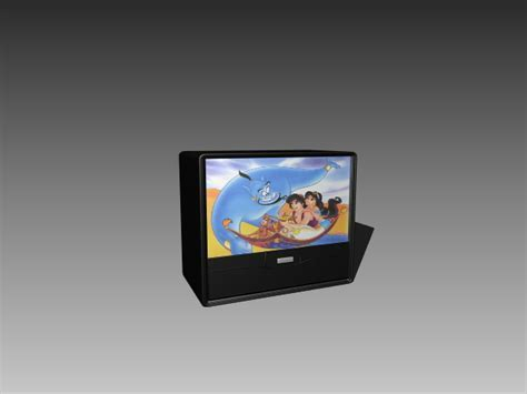 Old TV 3d model 3D Studio,3ds max,AutoCAD Drawing files