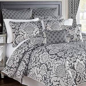 Remi, 4pc, Comforter, Set, California, King, Grey, Croscill