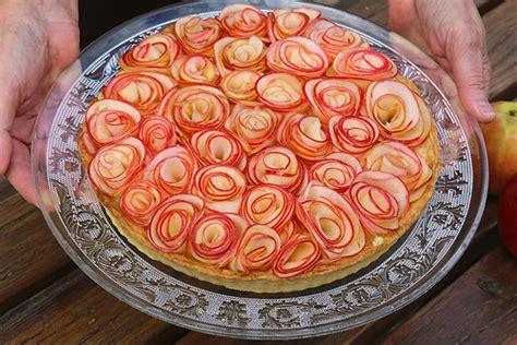 cuisine thailandaise tarte aux pommes comme un bouquet de roses