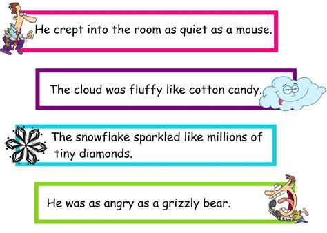 Simile Sentences Examples for Kids
