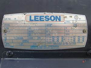 Leeson C145t34db13b 3ph Ac Electric Motor 3hp 3450 Rpm 208