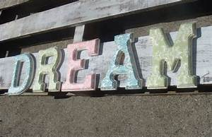 dream damask decorative letters wood sign word sign wall With dream wall letters