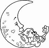 Moon Coloring Pages Crescent Stars Phases Printable Sun Adult Getcolorings Print Clipartmag Drawing sketch template