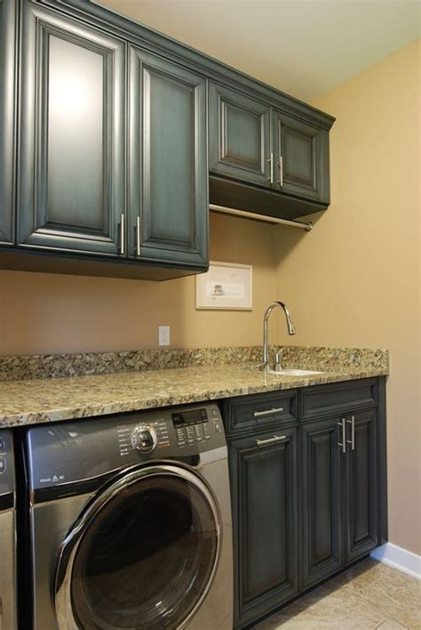 laundry room hanging rod Laundry Room Traditional with