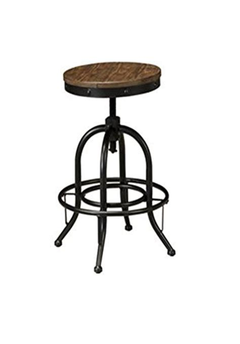 light brown stool signature design by pinnadel swivel stool light