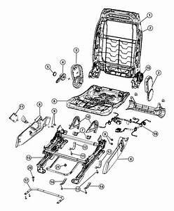 2007 Dodge Caliber Shield Side  Seat  Trim   Cloth Seats W