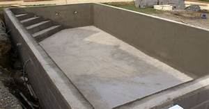 la construction d39une piscine en beton With construction d une piscine beton