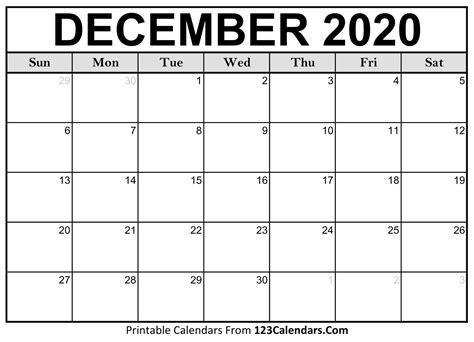 december  printable calendar calendarscom