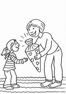 Kind Mit Schultüte : kostenlose malvorlage einschulung erster schultag zum ~ Lizthompson.info Haus und Dekorationen