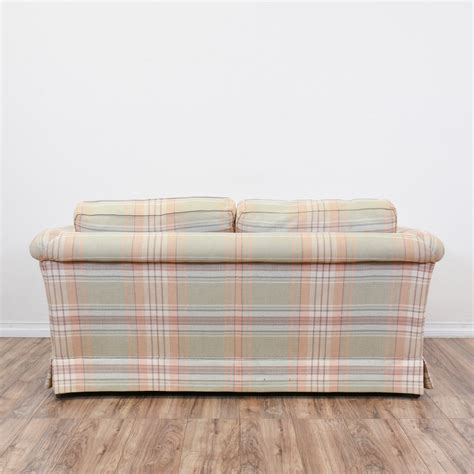 plaid loveseat quot ethan allen quot plaid loveseat sofa loveseat vintage