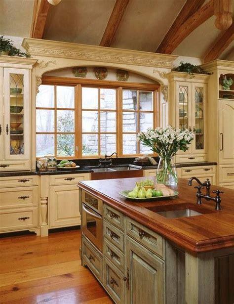 country chic kitchens 法式厨房厨柜美丽的法国乡村风格的厨房装修效果图 实创装饰集团官方网站 2692