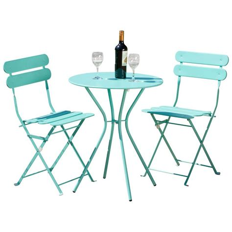 rst brands sol blue 3 patio bistro set op bs3 sol bl