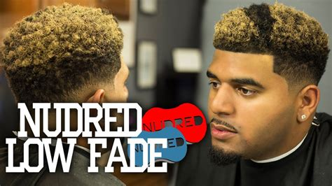 Nudred Curl Sponge Low Fade W/ Blond Coloring 2018