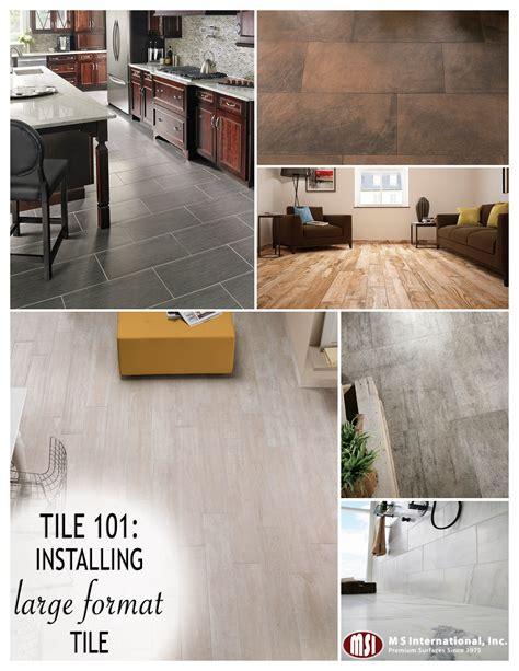 tile 101 installing large format tile