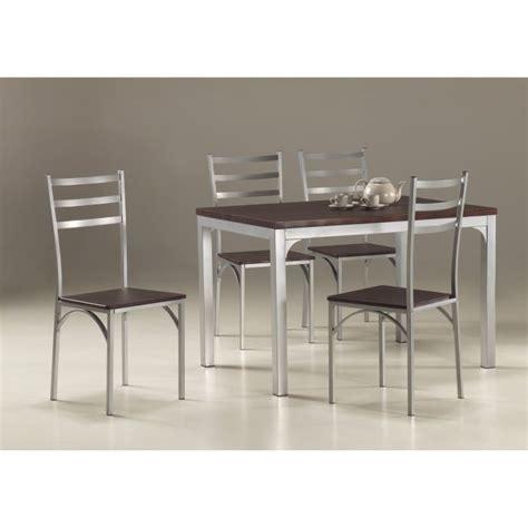 table et chaises cuisine ensemble table de cuisine et 4 chaises loire achat