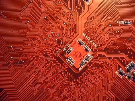 wallpapers  red circuit board background gr