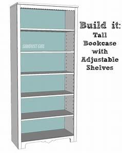 adjustable bookcase plans » woodworktips