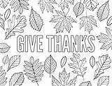 Coloring Printable Thanks Give Gratitude Thanksgiving Pages Children Thankful Sheets Adults Fall Grateful Papertraildesign Leaves Adult Turkey Paper Messages Express sketch template