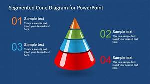 3d Segmented Cone Diagram For Powerpoint