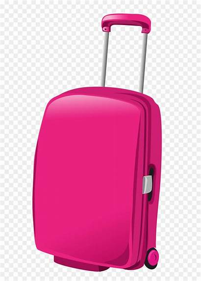 Clipart Travel Bag Pink Suitcase Clip Baggage