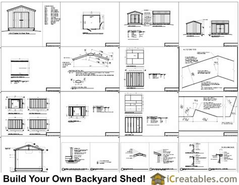 10x12 shed plans gable shed storage shed plans