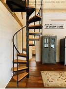 Metal Spiral Staircase With Wooden Steps For Security Metal Spiral 13 Staircase Design Ideas With Iron And Metal Railings Kerala Home Idea For A Metal Spiral Staircase Ideas For Home Decor Leverage Under Stairs Space Inside The Design A Renovated Firehouse