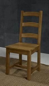 Chaise Chene Massif : chaise en ch ne massif de style campagnard assise chene meuble en ch ne massif ~ Teatrodelosmanantiales.com Idées de Décoration
