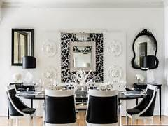 Dining Room With White Chandelier Brown Wooden Table With White Modern Black And White Dining Room Dining Room Dining Room 10 Inspiring Black And White Dining Room Designs Decorating Room Tags Black And White Dining Chairs Black And White Dining