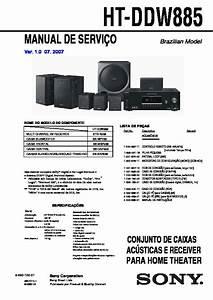 Sony Ht-ddw885 Service Manual