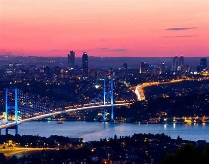 Istanbul Turki Kanal Bertekad Pemandangan Bosphorus