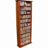 "dvd storage racks Venture Horizon 76"" Tall CD DVD Wall Media Storage Rack - 2411"