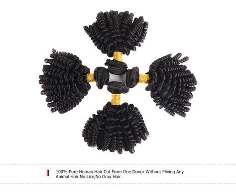Funmi Hair Human Hair 3 Bundles Afro Kinky Curly Short