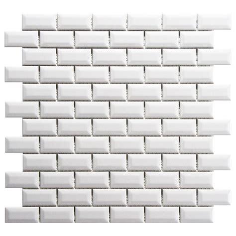 merola tile metro subway beveled glossy white 12 in x 12