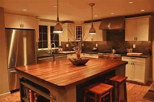 Custom Mahogany Wood Kitchen Countertop in Blue Bell, PA