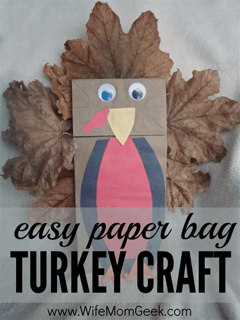 simple paper turkey craft easy paper bag turkey craft 5430