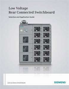Low Voltage Rear Connected Switchboard Selection And