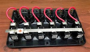 Marine Boat Ip65 Switch Panel 6 Gang Led Switches  U0026 Circuit Breaker Wave Marine And Rv Lighting