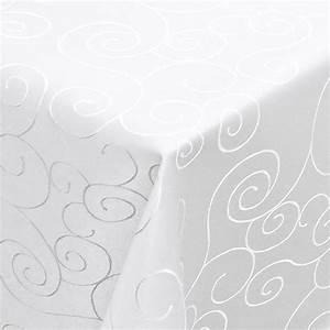 Tischdecke Weiß Bügelfrei : tischdecke ornamente 160x360cm oval weiss ~ Eleganceandgraceweddings.com Haus und Dekorationen