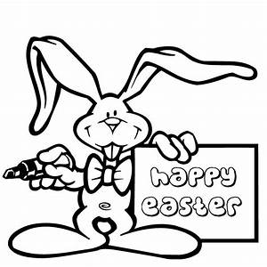 Happy Easter Coloring Page - AZ Coloring Pages