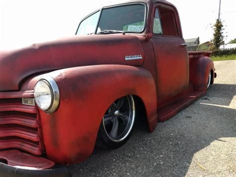 1950 chevy 3100 truck rat rod rod bagged patina v8 air ride slammed classic