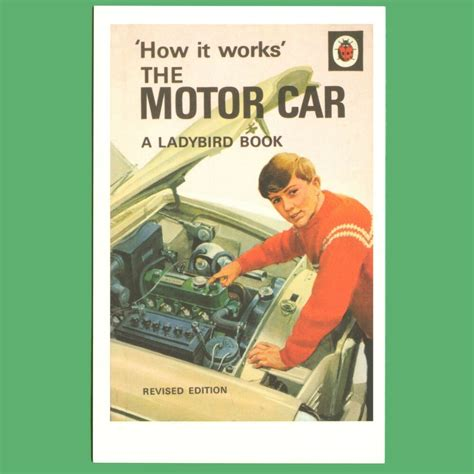 books about cars and how they work 2005 subaru baja seat position control how it works the motor car ladybird book cover postcard ebay