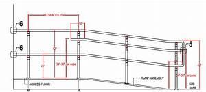 Handicap Ramp Handrail Height Diagram