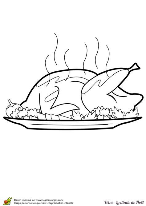 cuisiner une dinde pour noel coloriage dinde de noel sur hugolescargot com