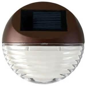 moonrays solar powered mini led bronze round outdoor deck