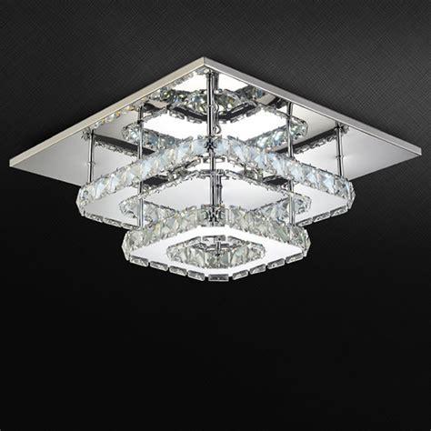 AC100 240V Modern crystal lamp LED ceiling light stainless